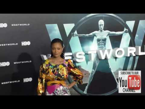 Thandie Newton and Ol Parker at the HBO Premiere of Westworld at TCL Chinese Theatre in Hollywood
