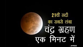 LUNAR ECLIPSE (chandra Grahan) in one Minute 28 july 2018