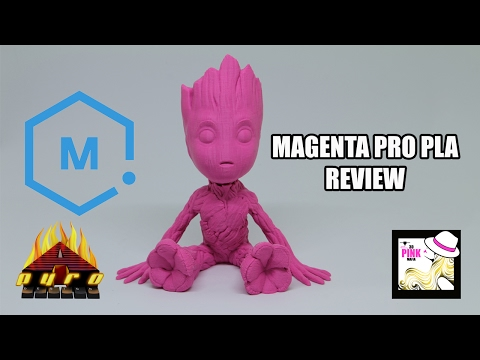 Pick the Pink! Matterhackers Magenta Pro PLA REVIEW - Day 8 #PICKTHEPINK