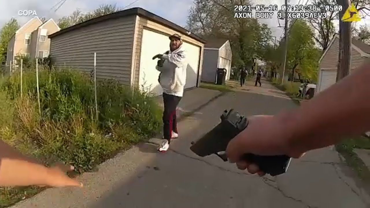Download Bodycam video released of Chicago shooting that injured 2 cops, suspect   ABC7 Chicago