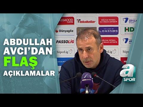 Antalyaspor 1 - 1 Trabzonspor Abdullah Avcı Maç Sonu Basın Toplantısı Düzenledi / A Spor