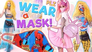 MATCHING MY OUTFITS w my FACE MASKS! | DIY Mask Style Walkthrough