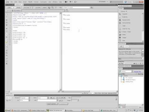 Line Breaks And Paragraphs In Dreamweaver CS5