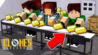 FÁBRICA DE OURO INFINITO !!! - Minecraft Clones #9