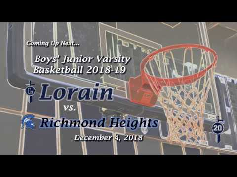 Boys' JV Basketball - Lorain vs. Richmond Hts. 12-4-18