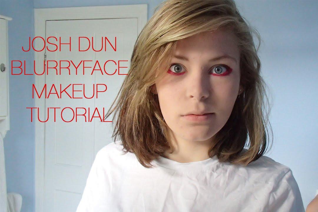 josh dun blurryface eye makeup tutorial youtube