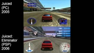 Juiced (PC) vs Juiced: Eliminator (PSP)
