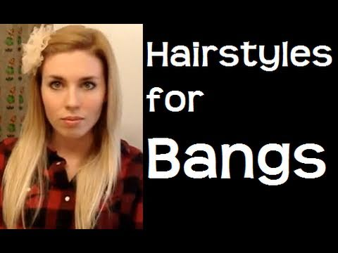 easy hairstyles bangs