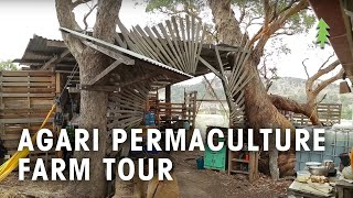 Cob House, Earthbag Dome, Pallet Outdoor Kitchen - Agari Permaculture Farm