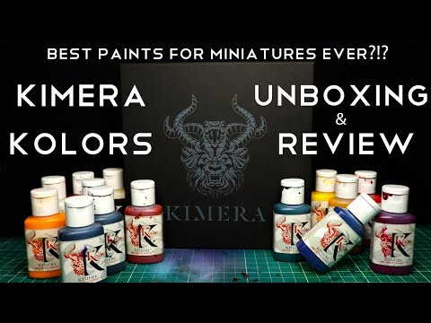 Best colors for miniature painting: Kimera Kolors - Unboxing and Review -