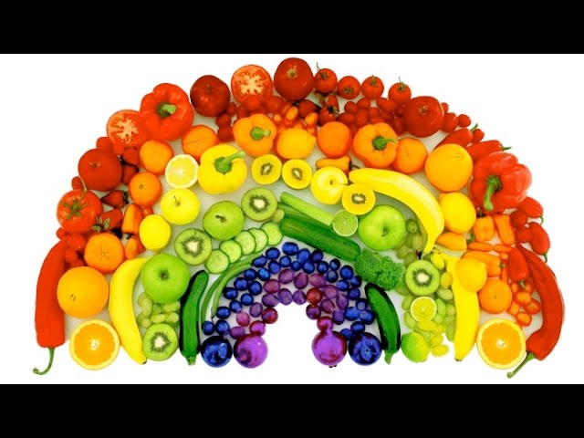 Learn Colors Of The Rainbow With Real Fruits And Vegetables RainbowLearning