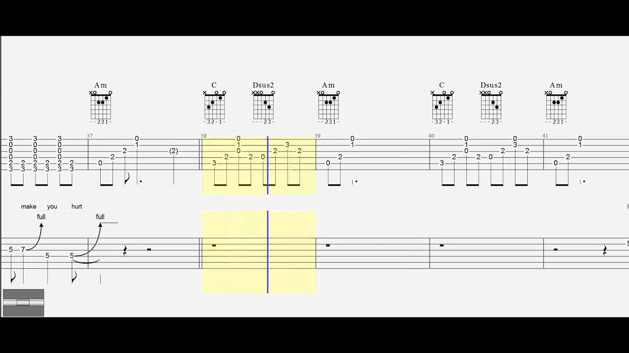 Guitar Tab Duet Chords Johnny Cash Hurt Youtube