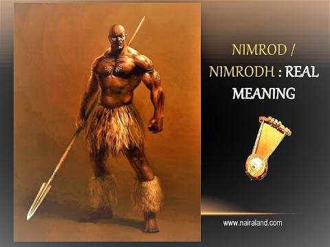 NIMROD (Real Meaning): USING ABAGUSII-KIKUYU HEBREW BANTU CODE