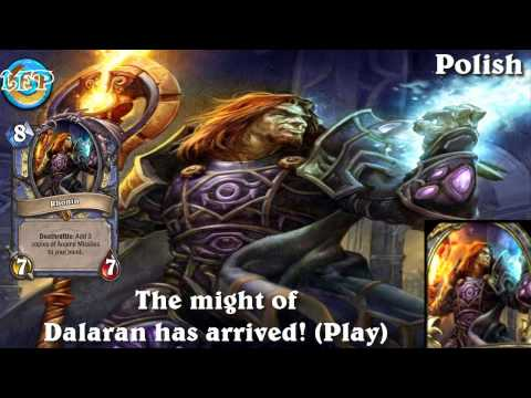 Rhonin card sounds in 12 languages -Hearthstone✔