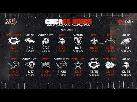 Chicago Bears 2020 Schedule.Chicago Bears 2019 2020 Schedule