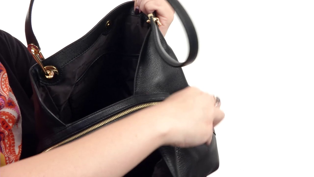 a908bf5814fb MICHAEL Michael Kors Raven Large Shoulder Tote SKU:8834319 - YouTube