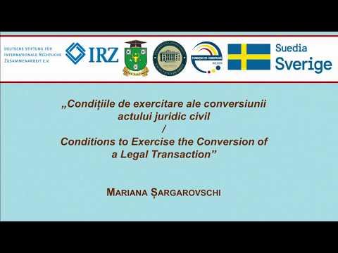 M. Sargarovschi — Conditiile de exercitare ale conversiunii actului juridic civil