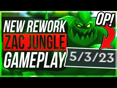 ZAC REWORK NEW Q IS BROKEN LOL WTF..?! - Zac Jungle Gameplay - League of Legends