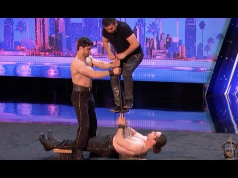 Azeri Brothers Brings The Torture Chamber and Freak Out The Judges | Week 2 | AGT 2017