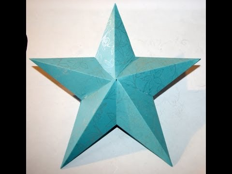 How To Make A 3D Paper Star (HD)