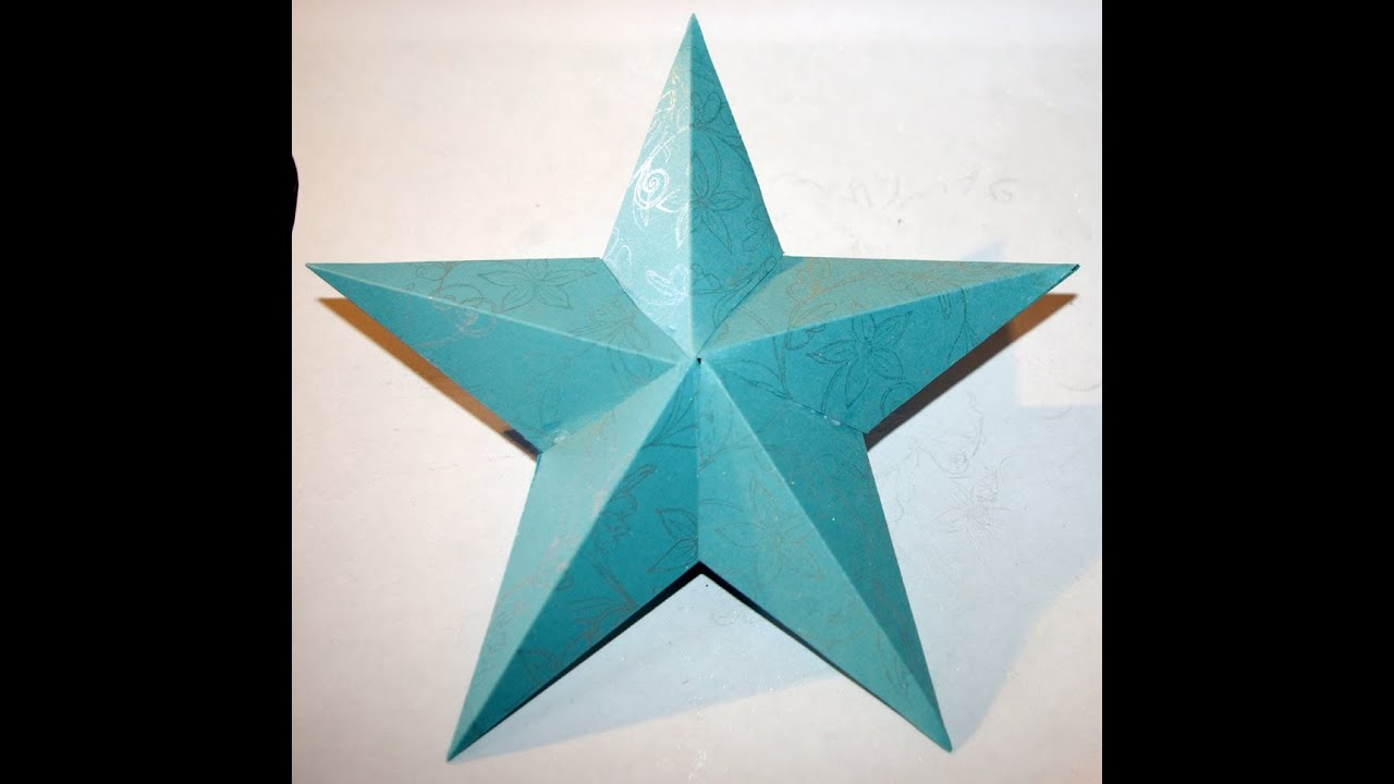 how to make a 3d paper star hd youtube