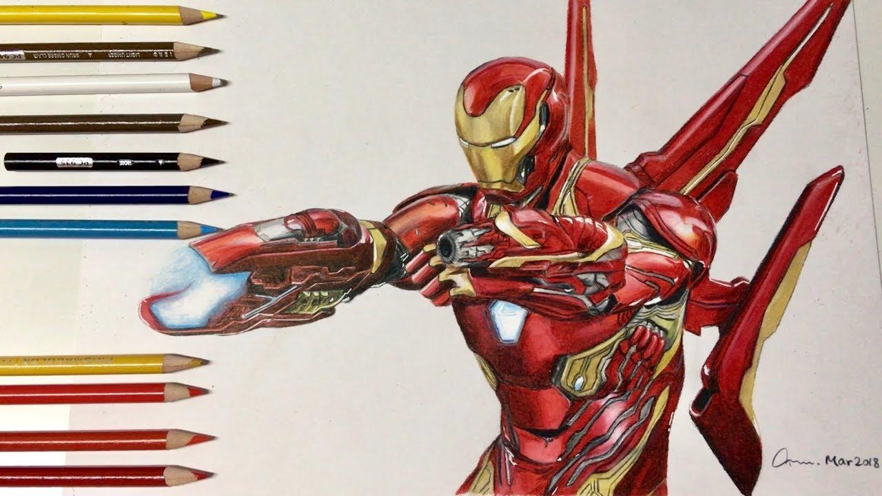 drawing iron man 鐵甲奇俠| avengers: infinity war 復仇者聯盟3:無限