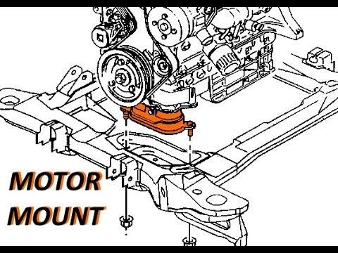 pontiac montana motor mount replacement - youtube  youtube