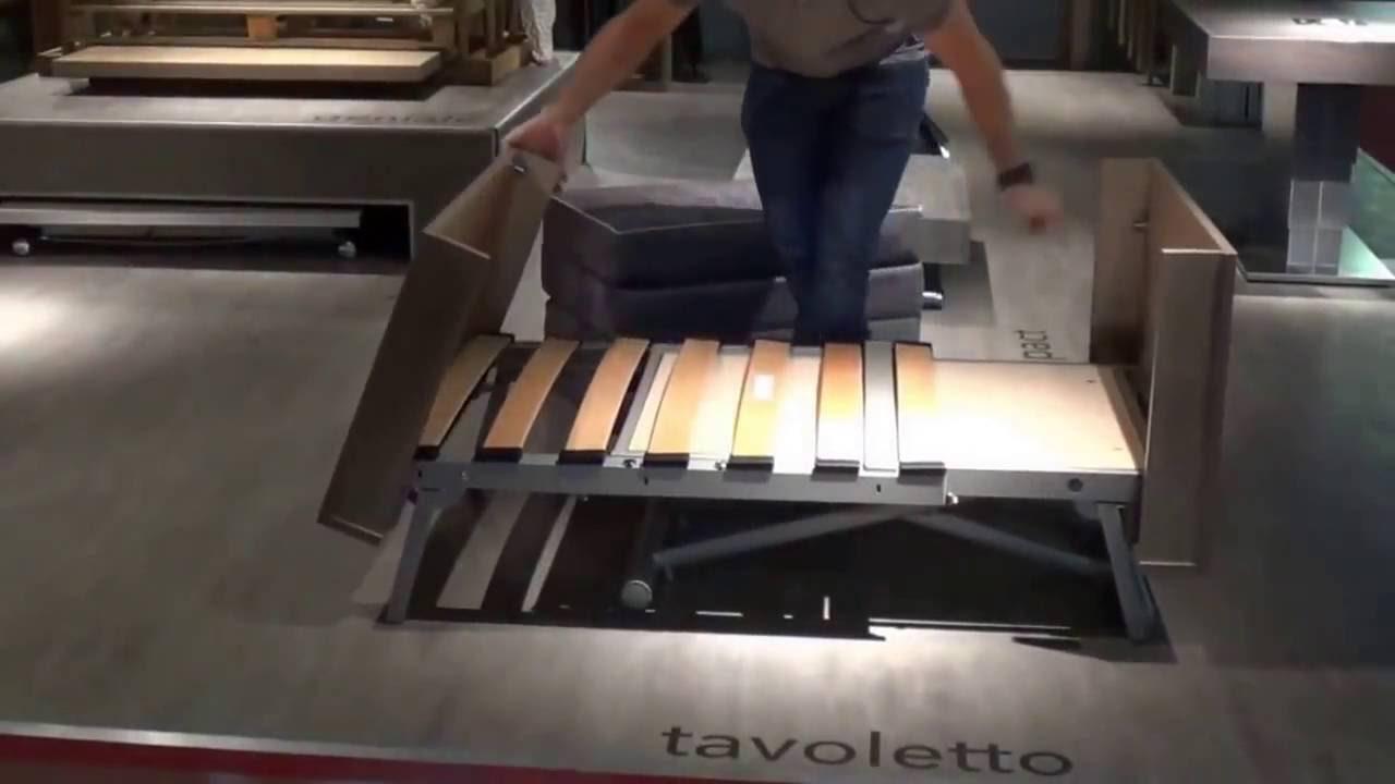 Mobili Trasformabili Tavolo.Sizedesign It Altacom Tavolino Trasformabile In Letto Novita 2016 Mobili Salvaspazio