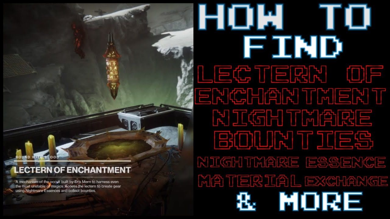 How To Find The Lectern Of Enchantment Destiny 2 2020 Youtube