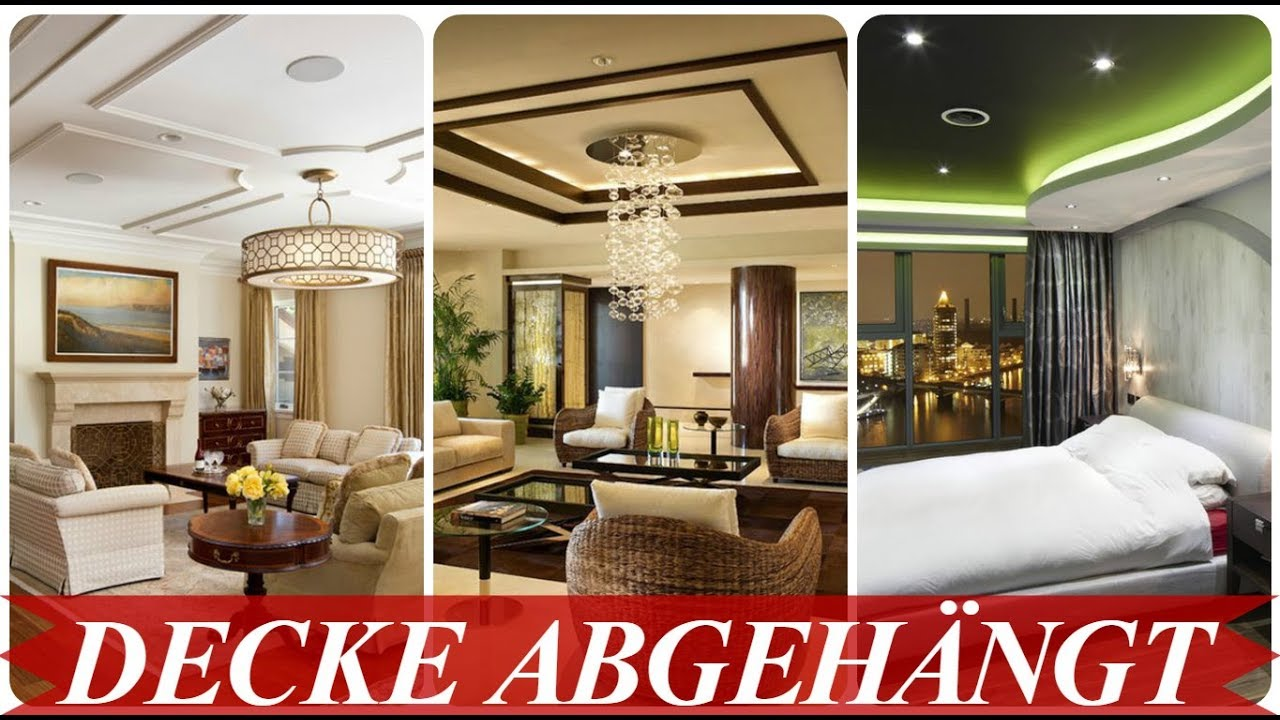 abgeh ngte decke design ideen youtube. Black Bedroom Furniture Sets. Home Design Ideas