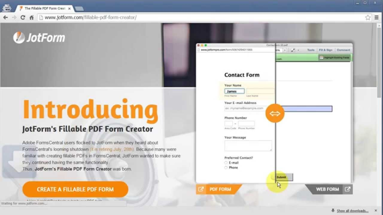 Fillable PDF Form Creator - YouTube