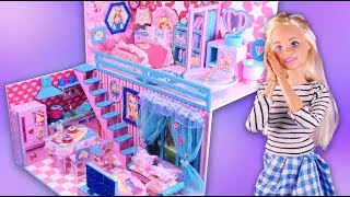 DIY Miniature ❤️Dollhouse ❤️Barbie Bedroom, Bathroom, Kitchen and Livingroom