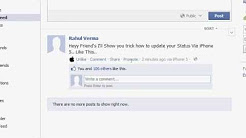 Update your Facebook Status Via iPhone 5 Free Without using Phone. Fake status And Get Free Likes