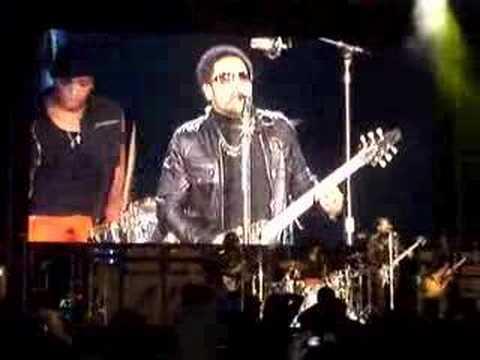 Entry of Lenny Kravitz in Rock in Rio Lisboa 2008