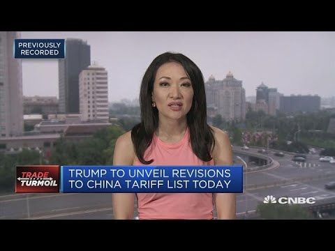 Trump to unveil revisions to China tariff list today | In The News
