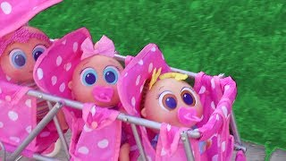 Baby Doll Play with Bobozidades ! Toys and Dolls Fun for Kids Playing with New Distroller Babies