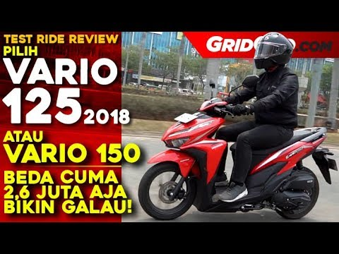 honda vario 125 2018 test ride review gridoto youtube. Black Bedroom Furniture Sets. Home Design Ideas