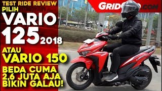 Honda Vario 125 2018 | Test Ride Review | GridOto