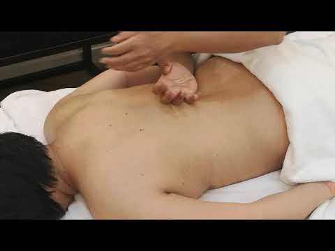 Relaxing massage using forearm and elbow