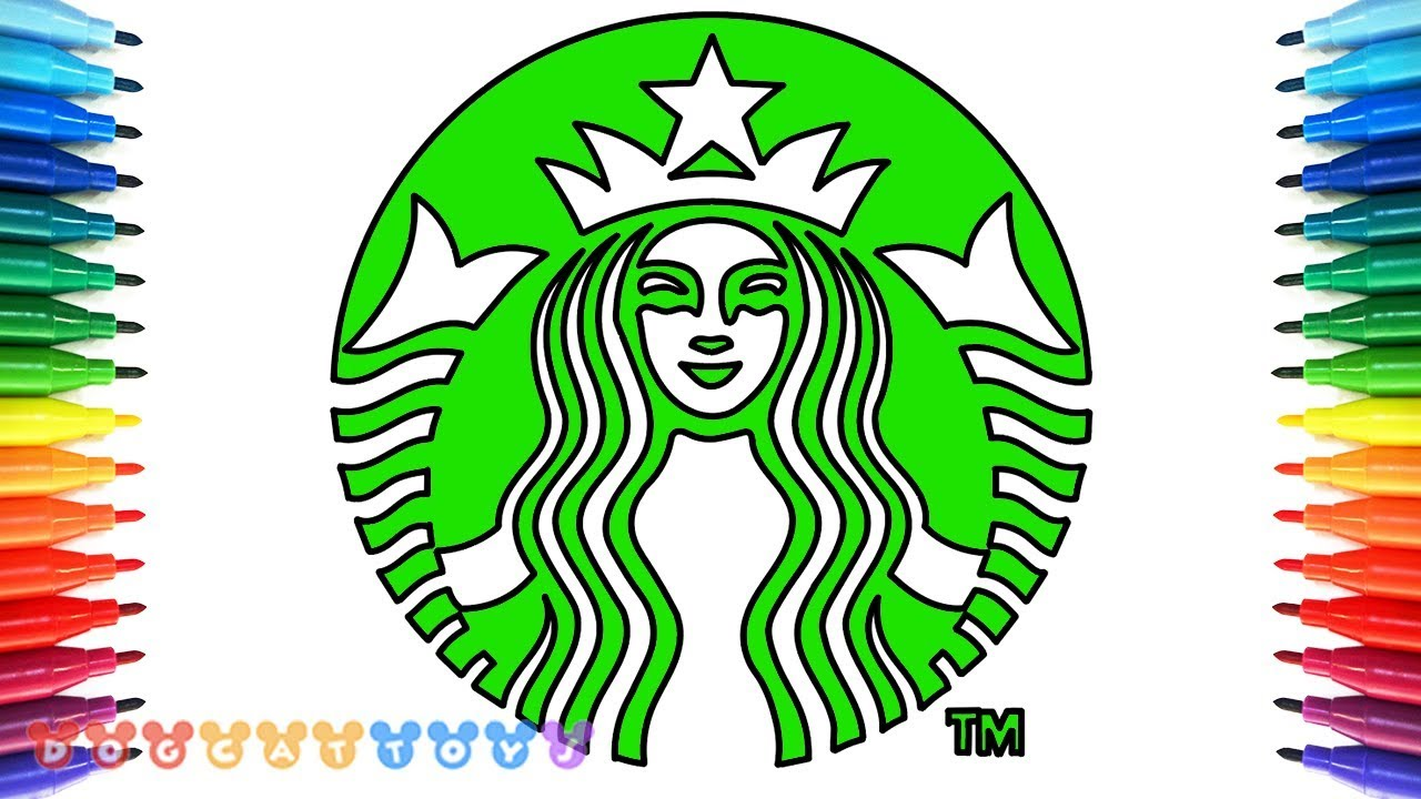 How To Draw Starbucks Logo Cute Drawing Dogcattoys