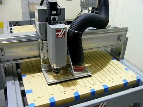 Haas SR-100 CNC Router First Cut