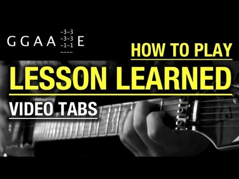 Alice in Chains  Lesson Learned  Guitar  with Tabs  Learn to Play the Solo  Tutorial