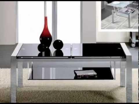 Mesas bajas elegantes de madera y cristal youtube - Mesas para el sofa ...