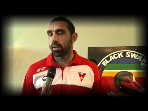 Goodes helps launch the Black Swans