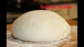 Постное заварное тесто для вареников и пирожков. Работать с ним одно удовольствие!