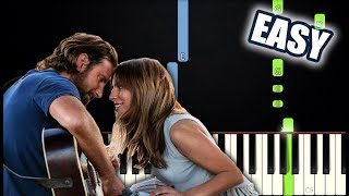 Lady Gaga, Bradley Cooper - Shallow (A Star Is Born) | EASY PIANO TUTORIAL by Betacustic