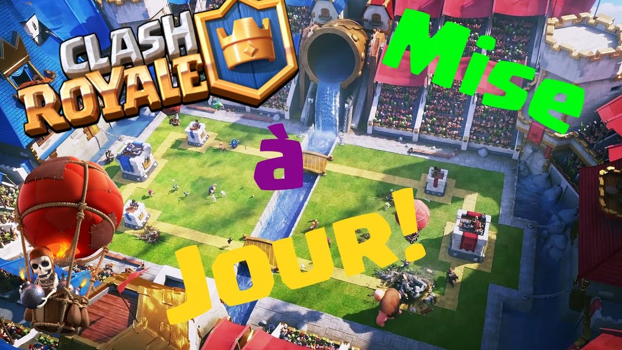 mise a jour 23 01 2017 clash royale youtube. Black Bedroom Furniture Sets. Home Design Ideas
