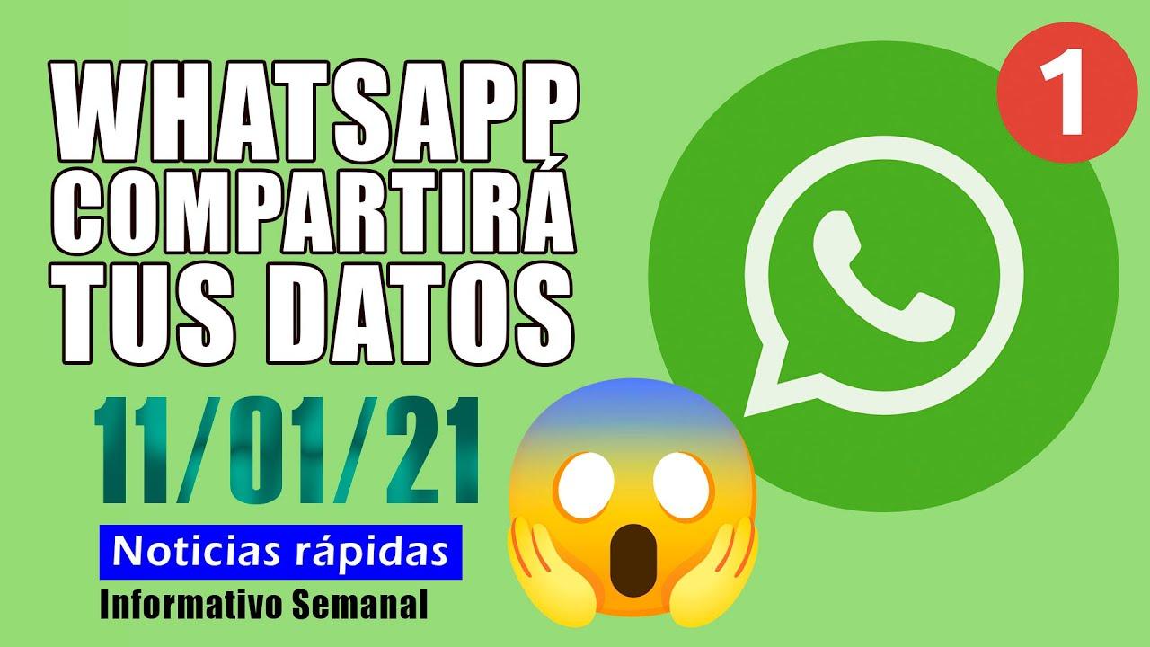 Whatsapp compartirá los datos con terceros (empresas) [11/01/21]