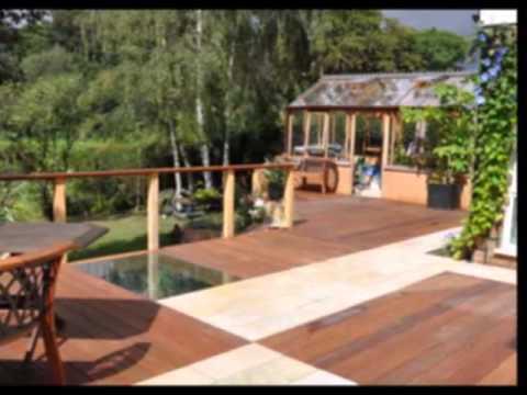 Garden decking ideas - YouTube