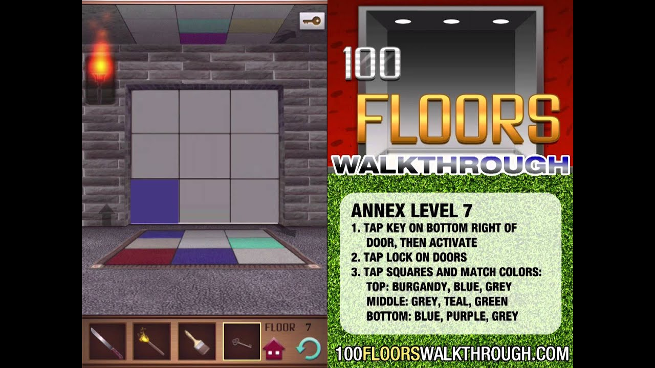 100 Floors Walkthrough Annex Floor 7 Walkthrough 100